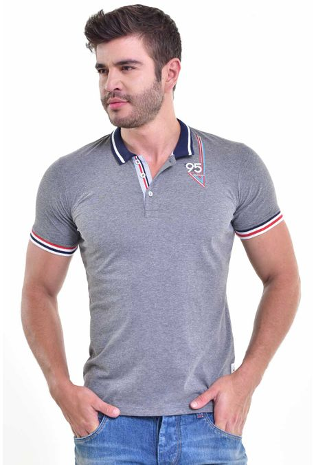 Polo-QUEST-Slim-Fit-162017009-Gris-Jaspe-Medio-1