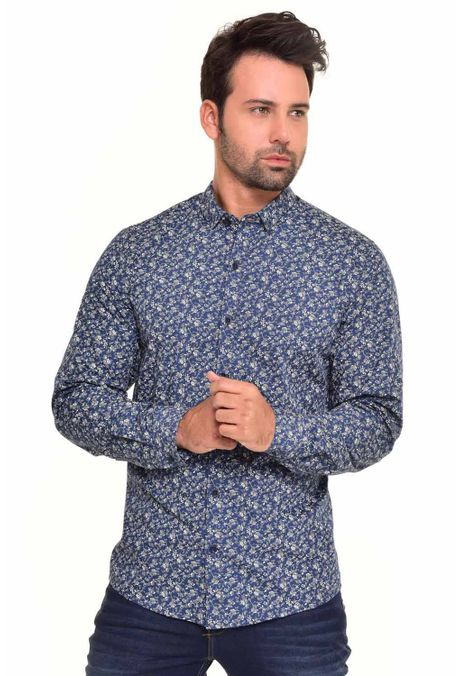 Camisa-QUEST-Custom-Fit-QUE111170049-Azul-Oscuro-1