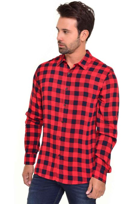 Camisa-QUEST-Custom-Fit-QUE111170062-Rojo-1