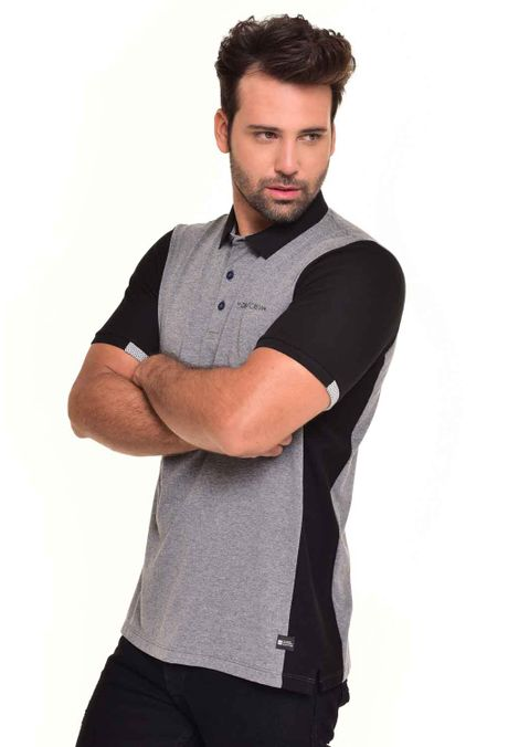Polo-QUEST-Original-Fit-QUE162170017-Gris-Jaspe-Medio-1