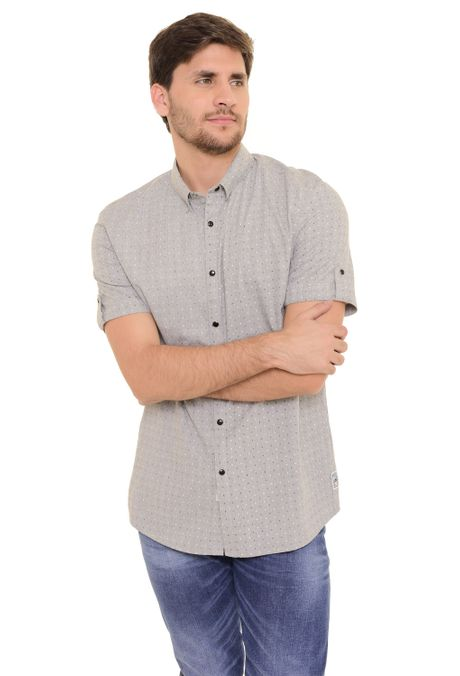 Camisa-QUEST-Custom-Fit-QUE111170097-Gris-Claro-1