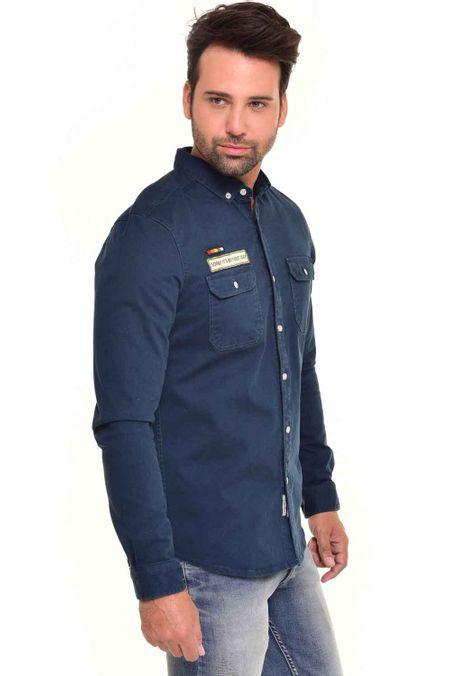 Camisa-QUEST-Custom-Fit-QUE111170085-Azul-Petroleo-2