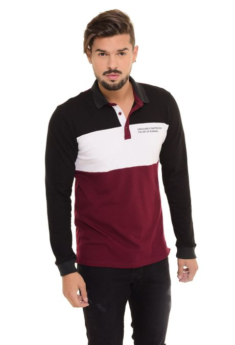 Polo-QUEST-Slim-Fit-QUE162170068-Vino-Tinto-1