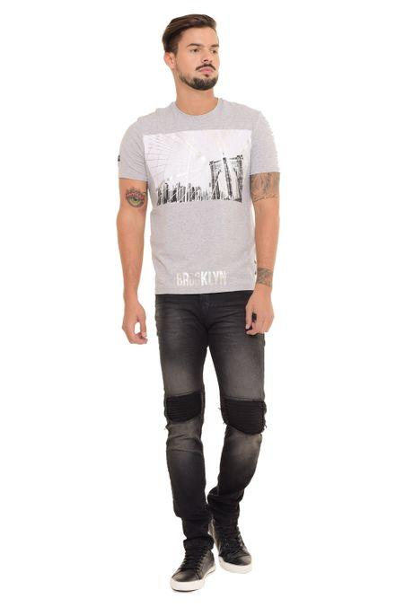 Camiseta-QUEST-Slim-Fit-QUE112170191-Gris-Jaspe-Medio-1