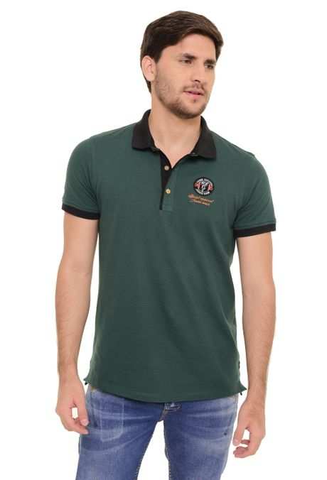 Polo-QUEST-Slim-Fit-QUE162170050-99-Verde-Botella-1