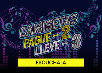 Pague 2 lleve 3 camisetas QUEST