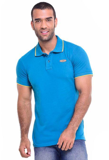 Polo-QUEST-Slim-Fit-162010002-44-Azul-Petroleo-1