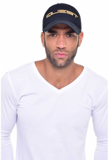 Gorra-QUEST-Custom-Fit-106010030-67-Negro-Dorado-1
