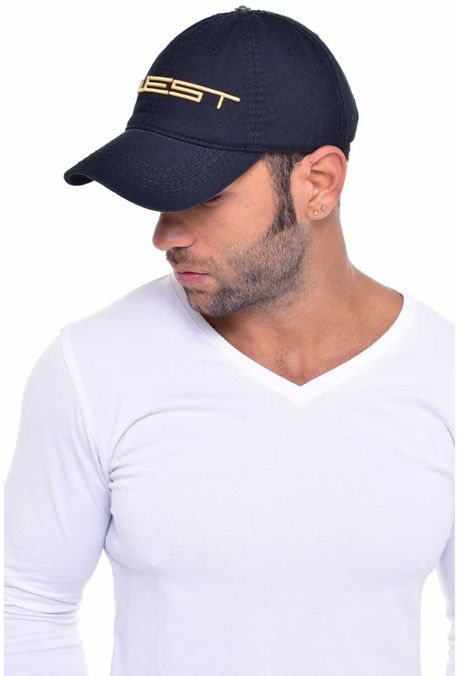 Gorra-QUEST-Custom-Fit-106010030-67-Negro-Dorado-2