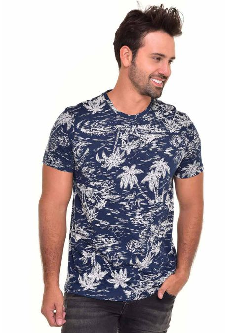 Camiseta-QUEST-Slim-Fit-QUE163170024-Azul-Oscuro-1