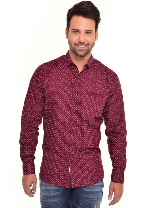 Camisa-QUEST-Custom-Fit-QUE111170083-Vino-Tinto-1