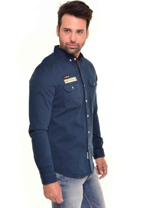 Camisa-QUEST-Custom-Fit-QUE111170085-Azul-Petroleo-2