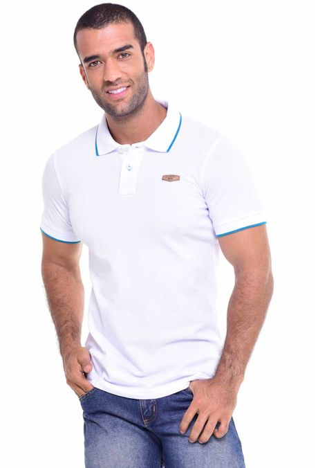 7fa96692fd Polo Slim Blanco Azul