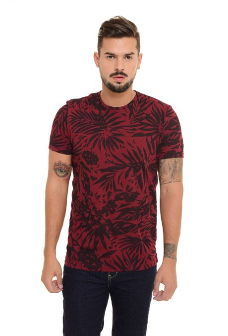 Camiseta-QUEST-Slim-Fit-QUE163170045-Vino-Tinto-1