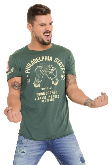 Camiseta-QUEST-Original-Fit-QUE112170133-38-Verde-Militar-1