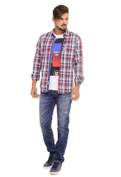Camisa-QUEST-Slim-Fit-QUE111170103-86-Gris-Jaspe-Medio-1