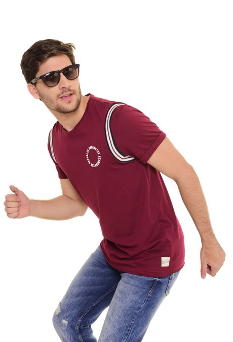 Camiseta-Moda-QUEST-Slim-Fit-QUE112170150-Vino-Tinto-1