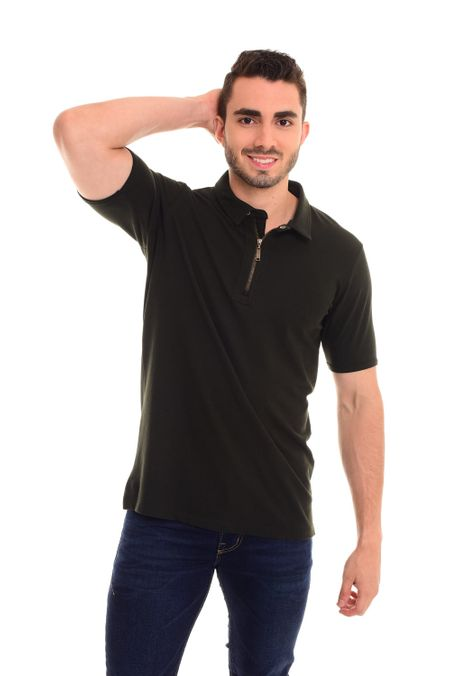 Polo-QUEST-Slim-Fit-QUE162180007-38-Verde-Militar-1