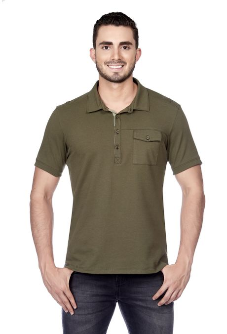 Polo-QUEST-Slim-Fit-QUE162180027-38-Verde-Militar-1