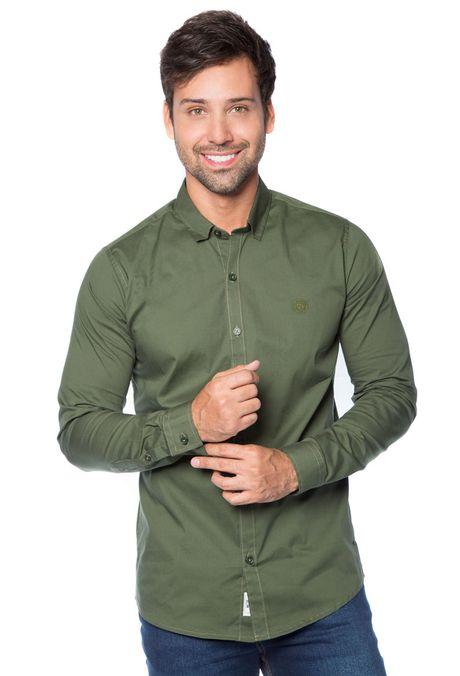 Camisa-QUEST-Slim-Fit-QUE111BA0010-38-Verde-Militar-1