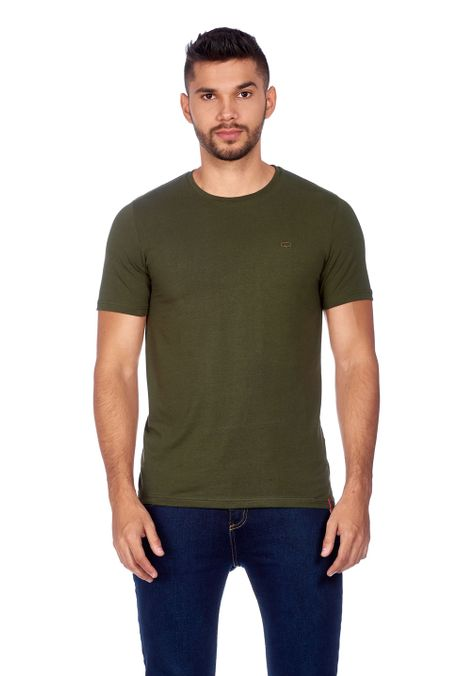 Camiseta-QUEST-Original-Fit-QUE163010003-38-Verde-Militar-1