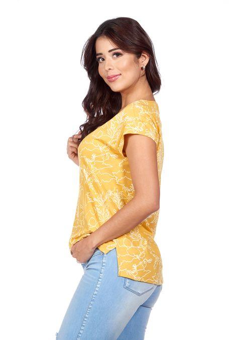 Camiseta-QUEST-QUE263180046-50-Mostaza-2