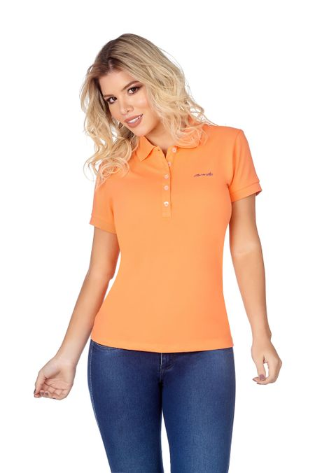 Polo-QUEST-Slim-Fit-QUE262BA0007-82-Melon-1