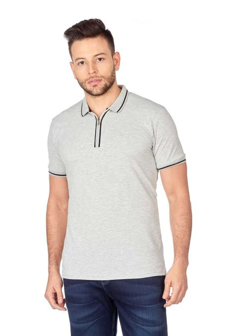 Polo-QUEST-Original-Fit-QUE162180062-86-Gris-Jaspe-Medio-1