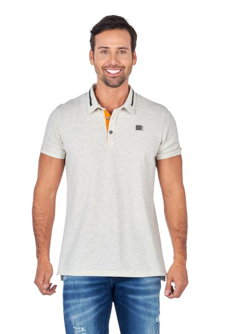 Polo-QUEST-Slim-Fit-QUE162180085-121-Ivory-Jaspe-1