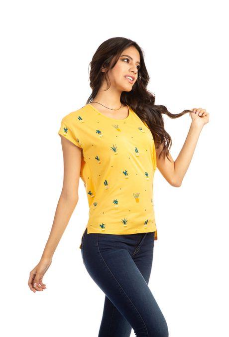 Camiseta-QUEST-QUE263190012-50-Mostaza-2