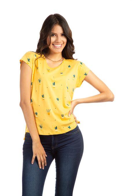 Camiseta-QUEST-QUE263190012-50-Mostaza-1