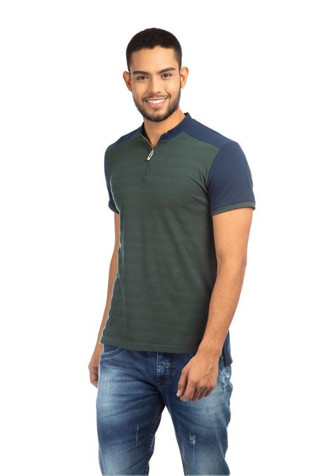 Polo-QUEST-Slim-Fit-QUE162190002-63-Verde-Oscuro-1