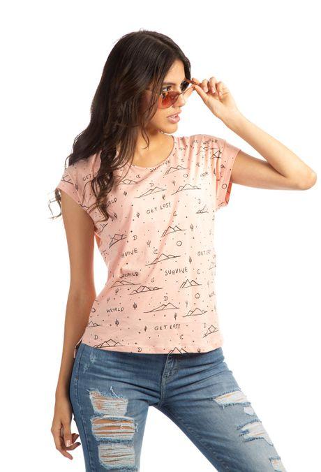 Camiseta-QUEST-QUE263190014-128-Nude-1