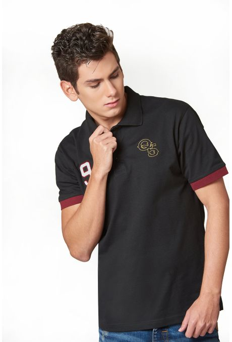 Polo-QUEST-Slim-Fit-QUE162190067-19-Negro-1