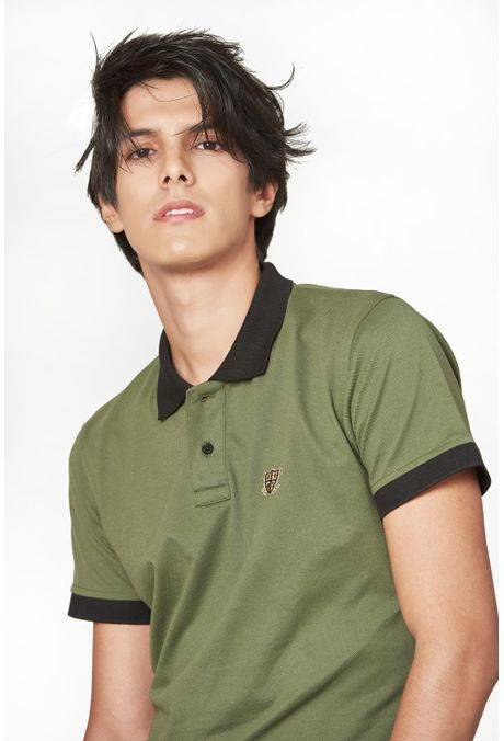 Polo-QUEST-Slim-Fit-QUE162190068-38-Verde-Militar-1