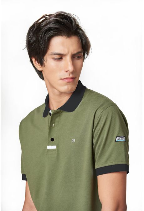 Polo-QUEST-Slim-Fit-QUE162190064-38-Verde-Militar-1