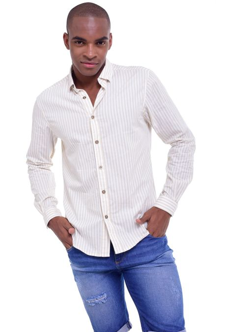 Camisa-QUEST-Slim-Fit-QUE111LW0002-21-Beige-1