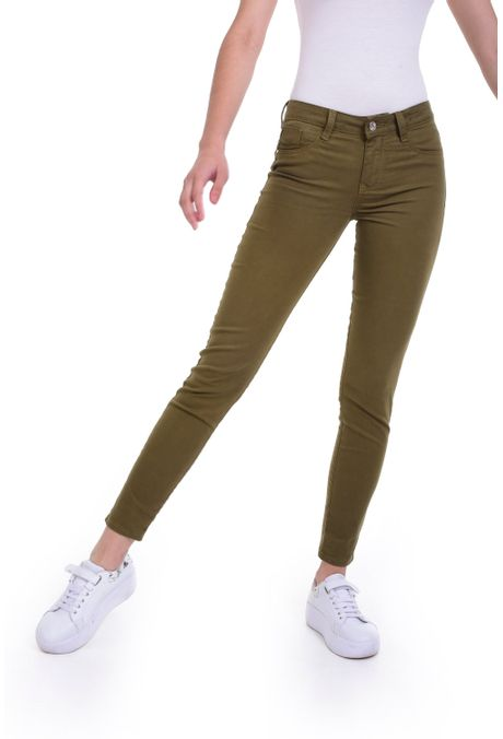 Pantalon-QUEST-Skinny-Fit-QUE209190010-38-Verde-Militar-1