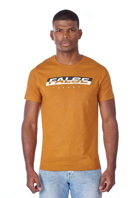 Camiseta-QUEST-Slim-Fit-QUE163LW0071-1-Ocre-1