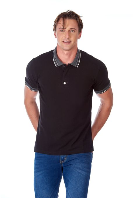 Polo-QUEST-Slim-Fit-QUE162190073-33-Negro-Negro-1