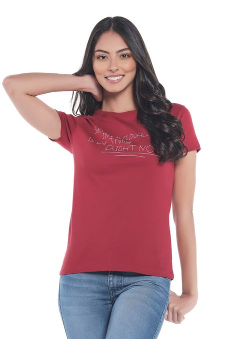 Camiseta-Especial-QUEST-QUE263LW0034-37-Vino-Tinto-1