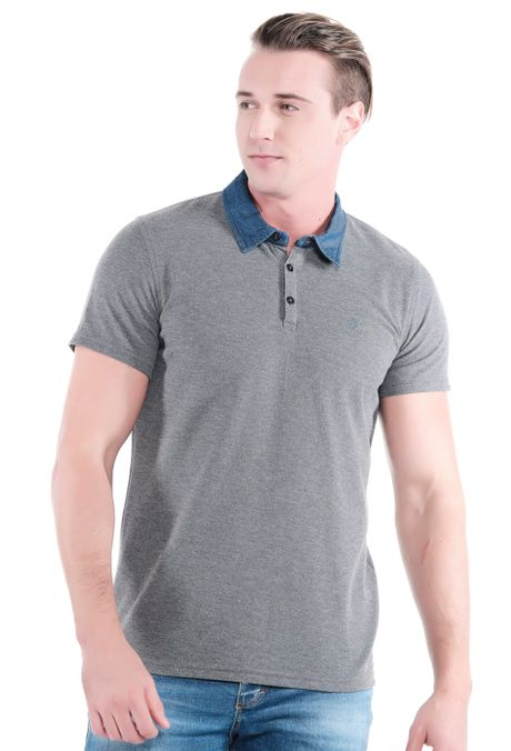 Polo-QUEST-Original-Fit-QUE162OU0016-86-Gris-Jaspe-Medio-1