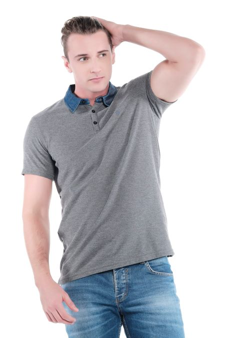 Polo-QUEST-Original-Fit-QUE162OU0016-86-Gris-Jaspe-Medio-2
