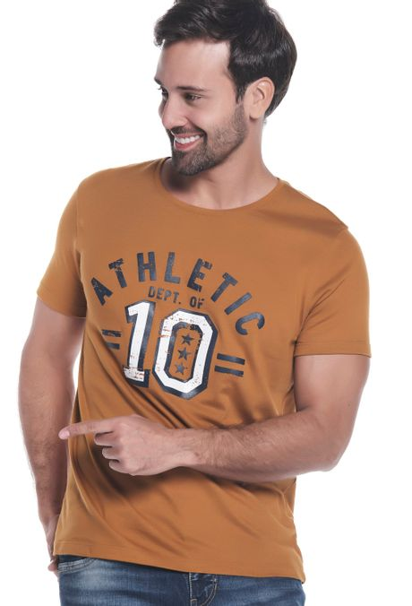 Camiseta-QUEST-Slim-Fit-QUE163LW0097-1-Ocre-1