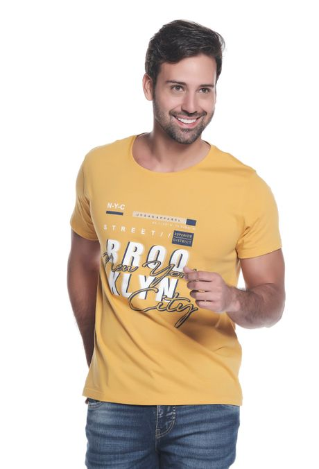 Camiseta-QUEST-Slim-Fit-QUE163LW0103-50-Mostaza-1