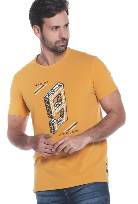 Camiseta-QUEST-Slim-Fit-QUE112190153-50-Mostaza-1