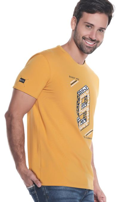 Camiseta-QUEST-Slim-Fit-QUE112190153-50-Mostaza-2