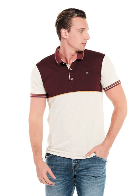 Polo-QUEST-Slim-Fit-QUE162190172-121-Ivory-Jaspe-1