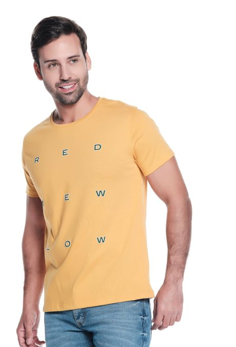 Camiseta-QUEST-Slim-Fit-QUE163LW0087-50-Mostaza-1
