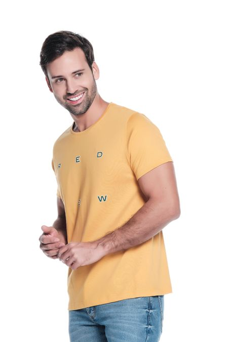 Camiseta-QUEST-Slim-Fit-QUE163LW0087-50-Mostaza-2